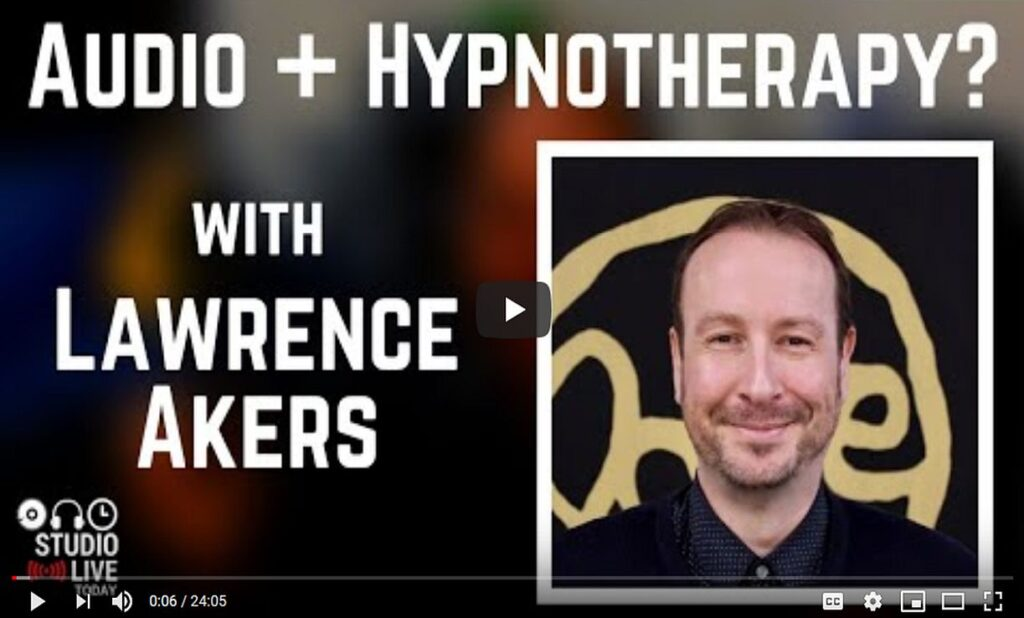 Home Audio Hypnotherapy Recording for Hypnotherapists Release Hypnosis Melbourne Counselling Pete Johns Studio Live Today